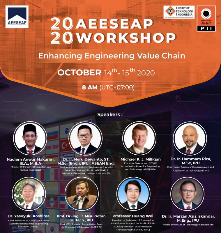 Workshop AEESEAP 2020, Ajang Meningkatkan Profesionalitas Insinyur