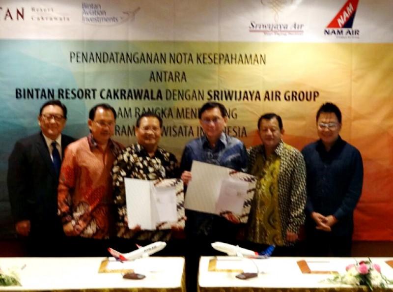 Bintan Resorts dan Bintan Aviation Investments Jalin Kerjasama Dengan Sriwijaya Air Group Tingkatkan Wisatawan