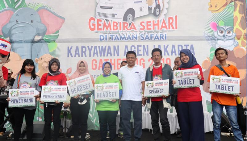 Employee Agen Gathering JNE 2019, Persolid Karyawan Mitra di Jakarta