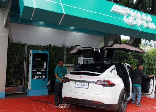 Kemenperin Kembangkan Baterai Hingga Stasiun Pengisian Kendaraan Listrik