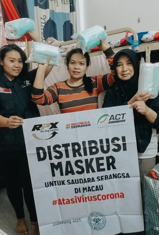 Kolaborasi RPX dan ACT Kirimkan Bantuan Masker ke Makau