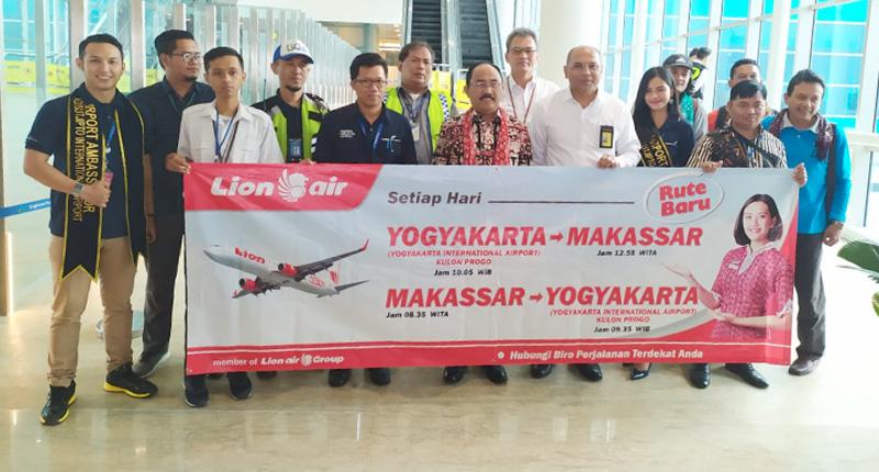 Lion Air Buka Rute Makassar ke Yogyakarta Baru