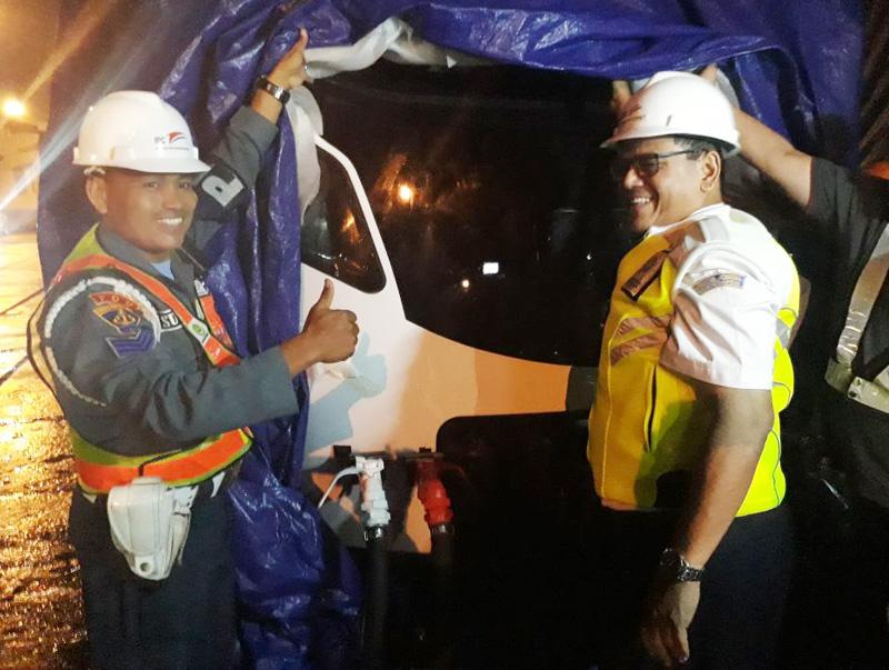 LRT Sumsel Sudah Tiba di Pelabuhan Bom Baru