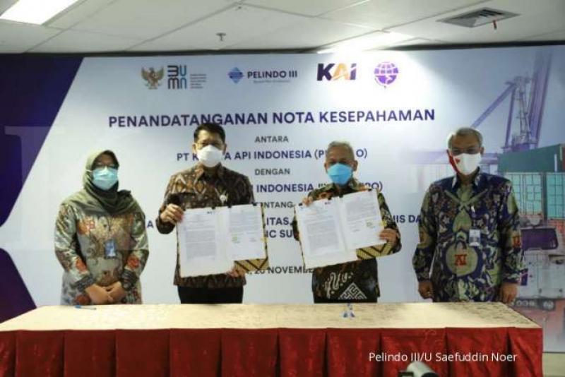 Pelindo III dan KAI Kerjasama Pemanfaatan Fasilitas Aset dan Logistik