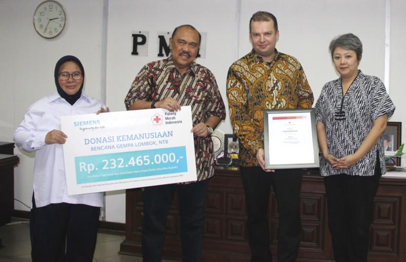 Siemens Indonesia Bantu Korban Gempa Lombok