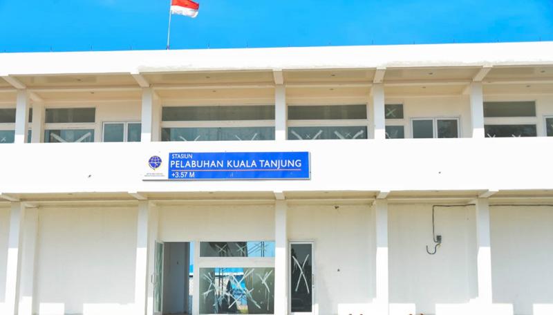 Stasiun KA Pelabuhan Kuala Tanjung Segera Beroperasi