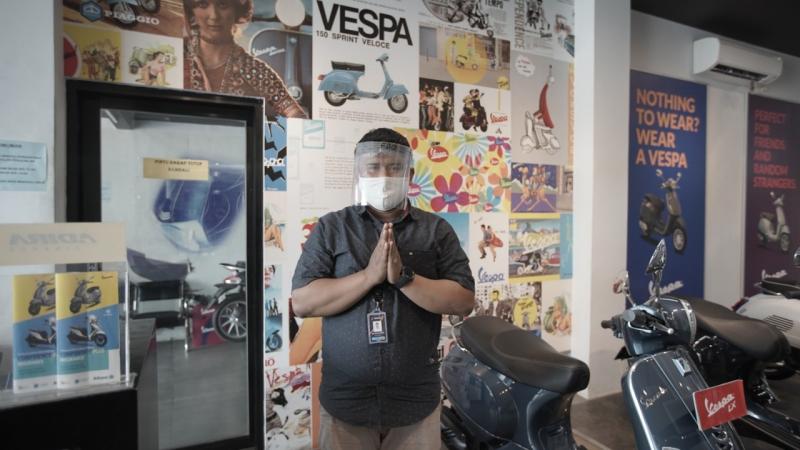 Terapkan Prosedur Kesehatan, Diler Resmi Piaggio Siap Sambut Konsumen