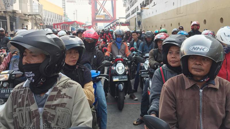 Voyage Terakhir Tiba di Jakarta, Akhiri Mudik Gratis Sepeda Motor Dengan Kapal